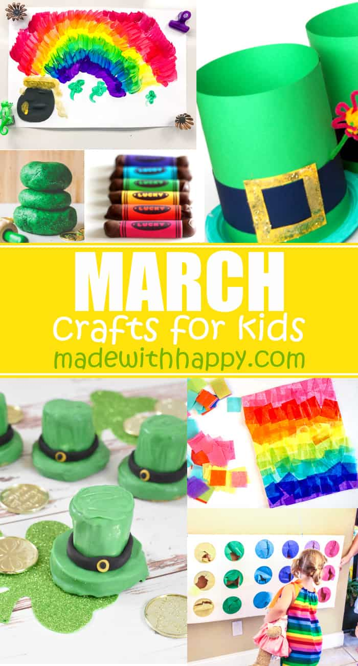Kids crafts for the month of March