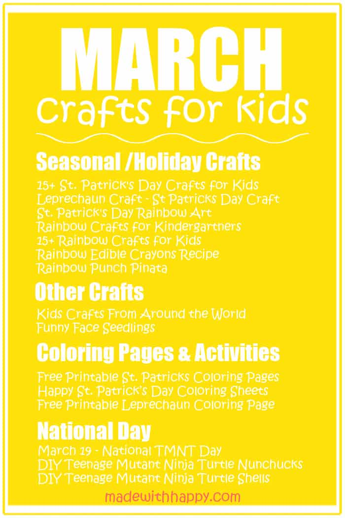 March Crafts For kids