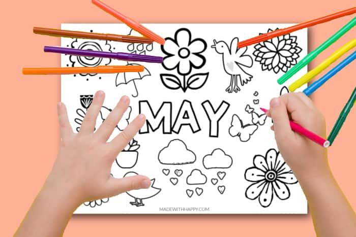 may coloring sheet