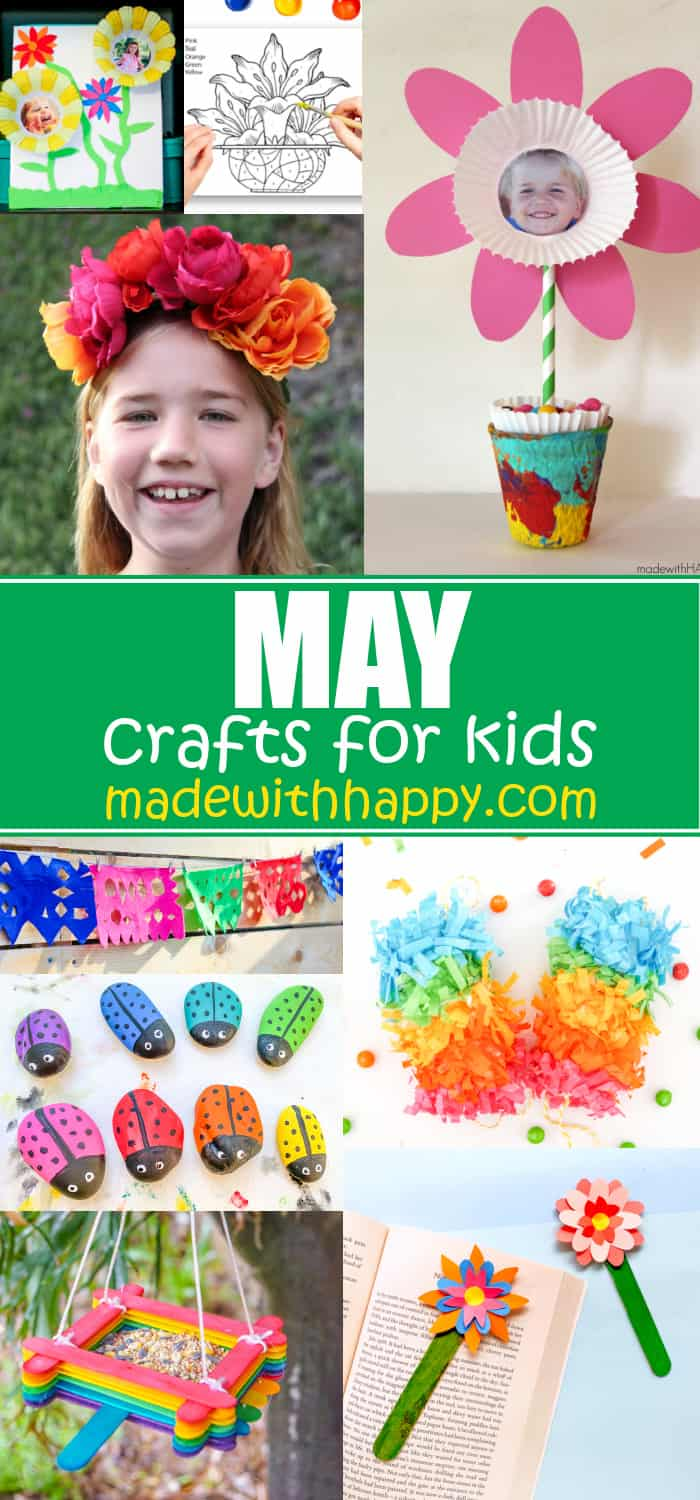 Month of May for Kids Crafts