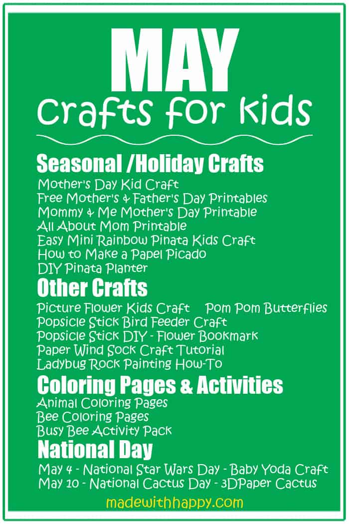 May Crafts For kids