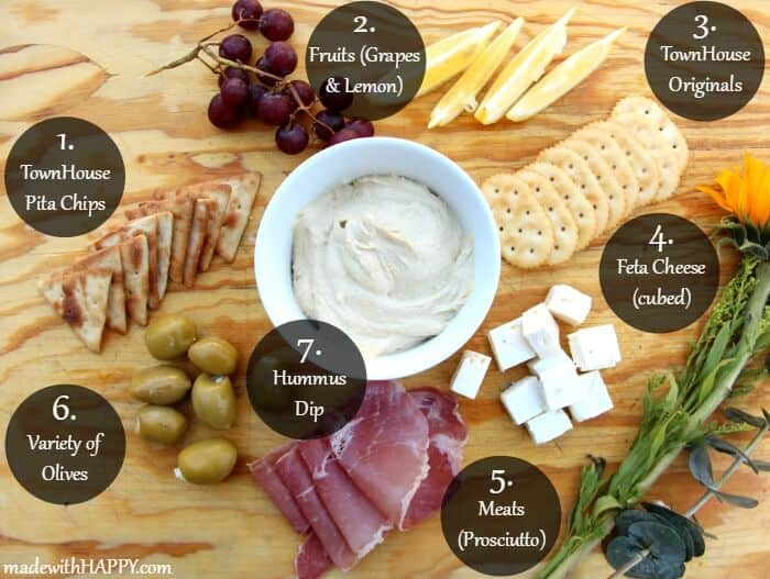 Easy to make Hummus | Making a Meditteranean Meat and Cheese Platter | Simple ways to casual entertaining | Tips to entertaining with simple |  www.madewithHAPPY.com