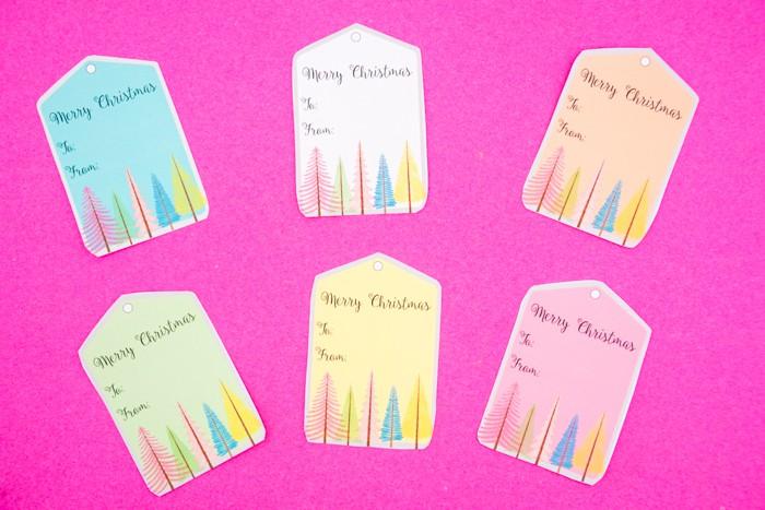 Colorful Printable Gift Tags