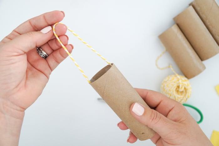 pulling string of pinata