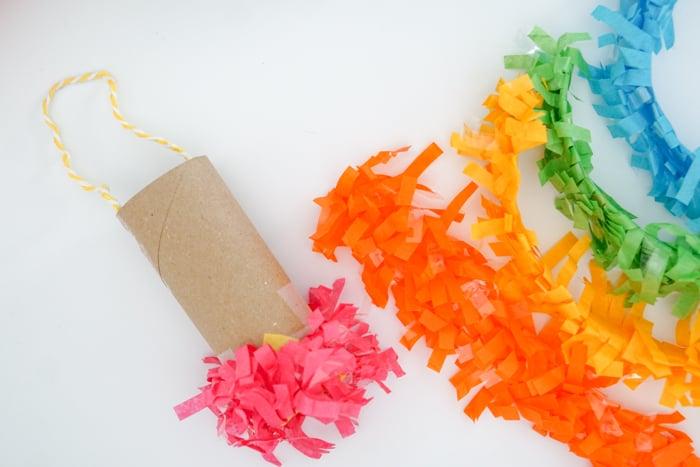 adding festooning to toilet paper roll