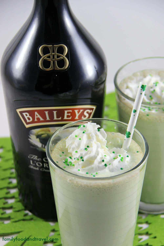 Mint Chocolate Chip Baileys Milkshake