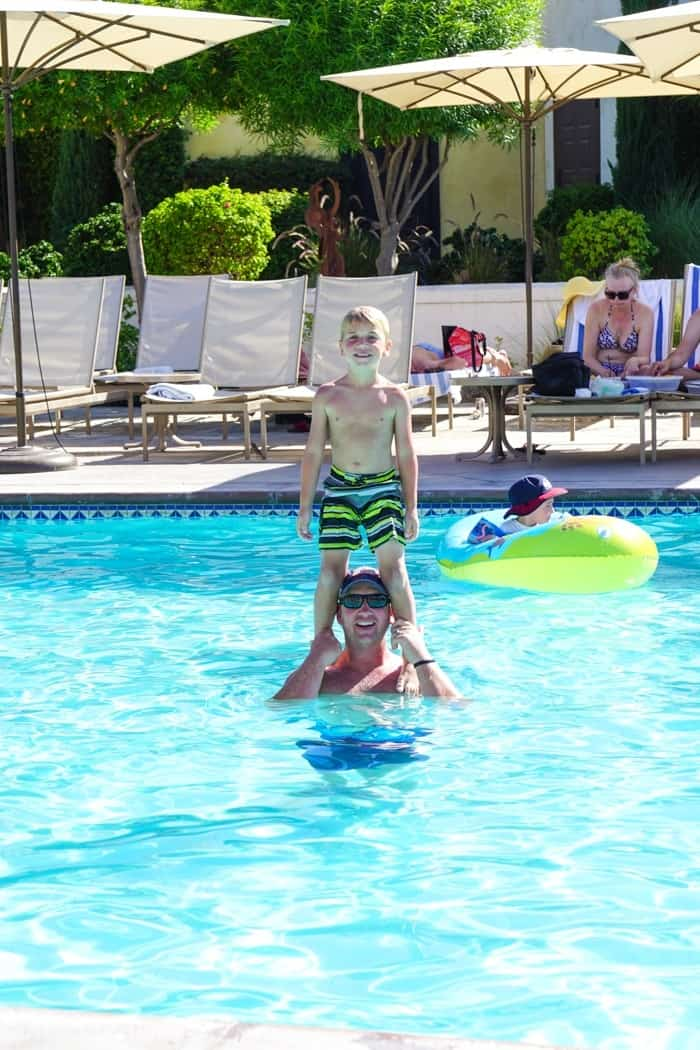 Family Pool Time. Looking for the fun Indian Wells resort for the family? Check out the Miramonte Resort & Spa located at the base of the Santa Rosa Mountains just minutes away from a ton of things to do in Palm Desert. Visiting Indian Wells Resort during the Summer. Fun Family friendly hotels in Palm Desert