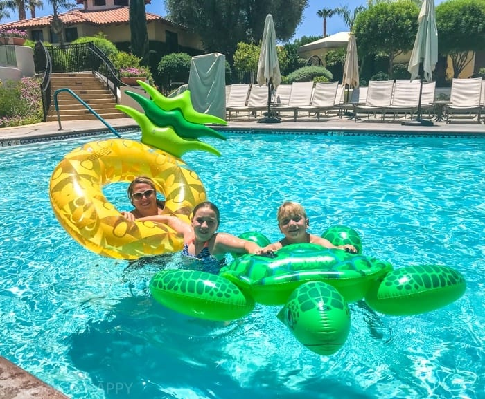 Fun Pool Floaty Rentals at Miramonte resort. Looking for the fun Indian Wells resort for the family? Check out the Miramonte Resort & Spa located at the base of the Santa Rosa Mountains just minutes away from a ton of things to do in Palm Desert. Visiting Indian Wells Resort during the Summer. Fun Family friendly hotels in Palm Desert