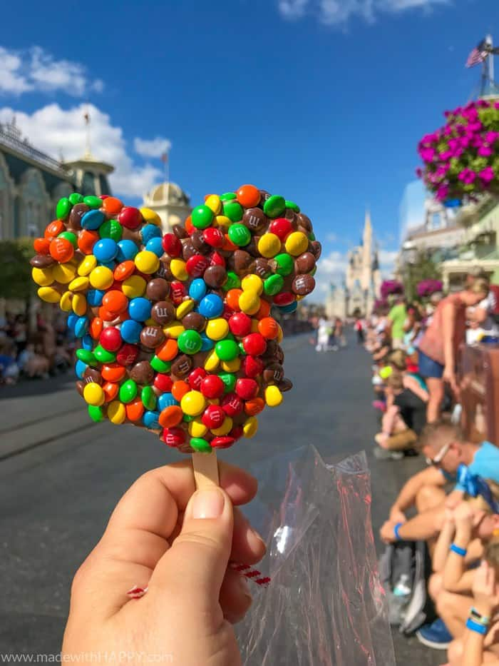 M&M Covered Rice Crispy Mickey Treat. Ultimate guide to plan a disney world vacation. Tips and tricks to planning a family vacation to disney world. Disney world parks, hotels, flights and so much more!