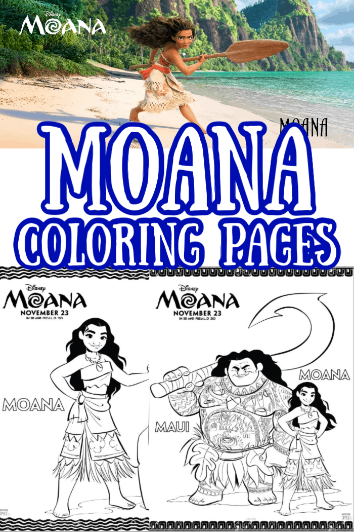 Disney Moana Coloring Pages And Activities Sheets