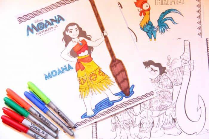 Moana Movie Coloring Pages and Activity Sheets   Moana Birthday Activities   www.madewithhappy.com
