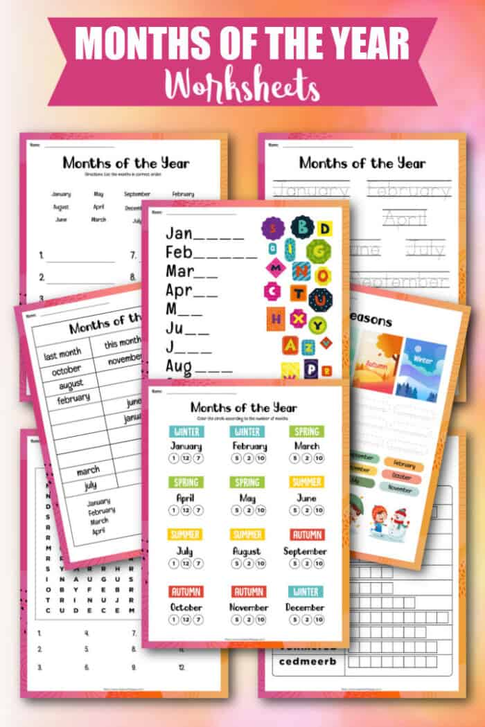 Month of the Year Worksheets
