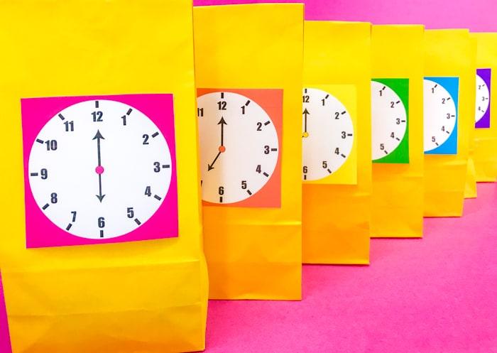 Rainbow Printable Clocks