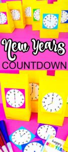 New Years Eve Countdown Printable Clocks
