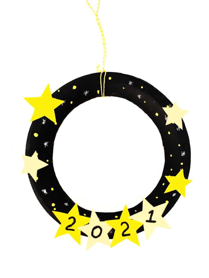 New years eve craft wreath