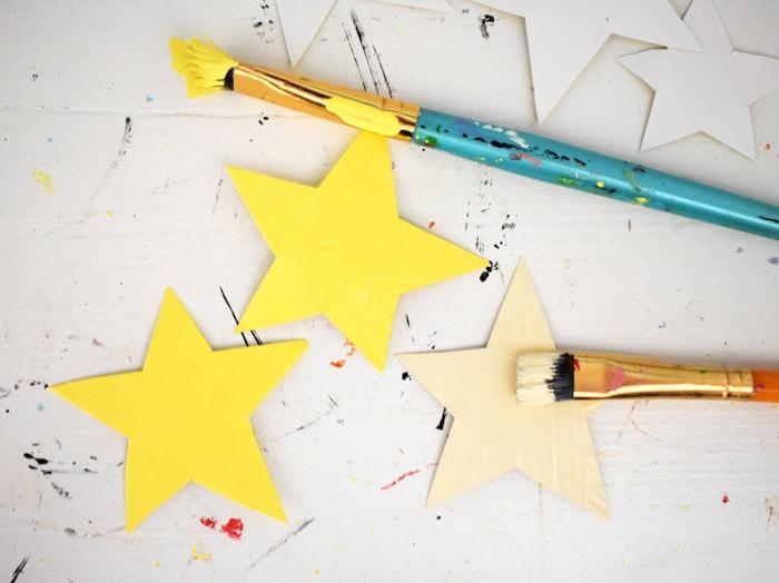 stars painted yellow