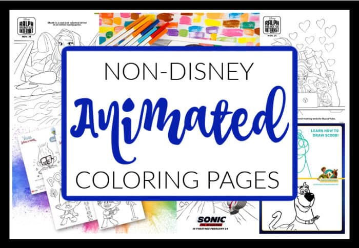 Non-Disney Animated Coloring Pages
