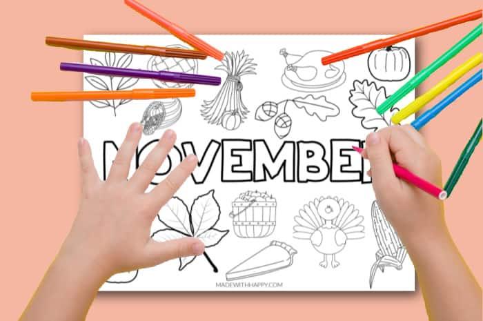 November Coloring