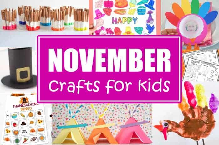 Crafts for Kids November