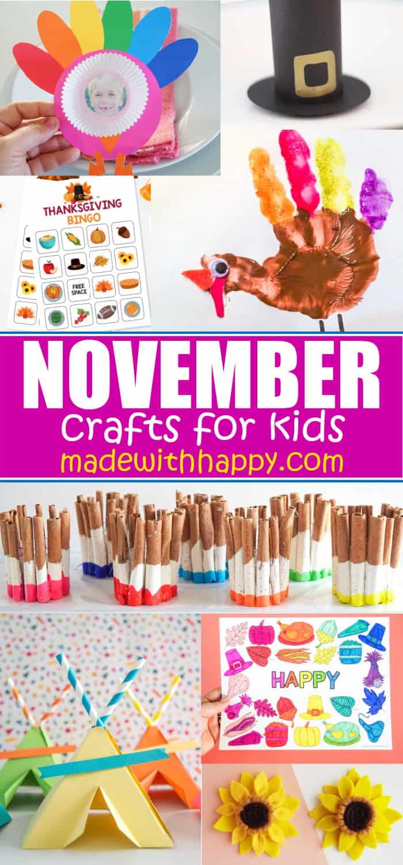 Craft Ideas For kids - November