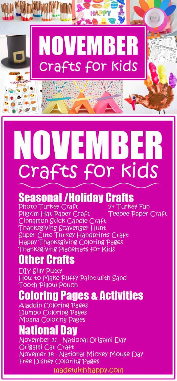 November kids craft ideas