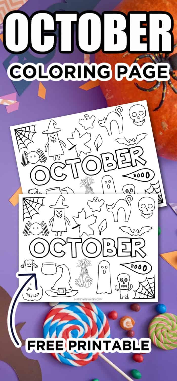 Free Printable October Coloring Sheet