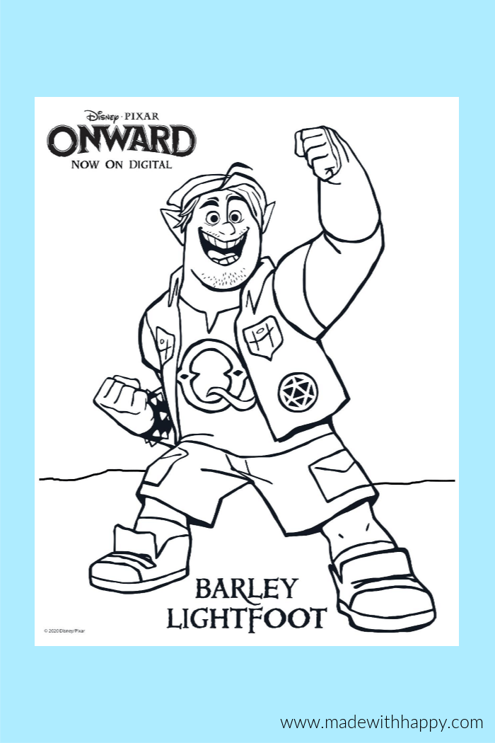 Onward Disney Coloring Pages For Kids - Made With HAPPY