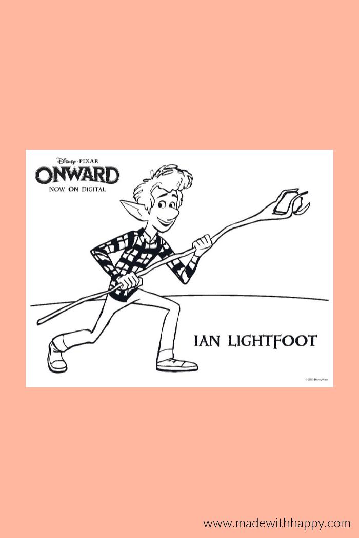 Onward Coloring Page of Ian Lightfoot