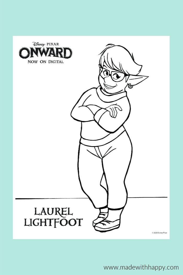 Onward Coloring Page of Laural Lightfoot