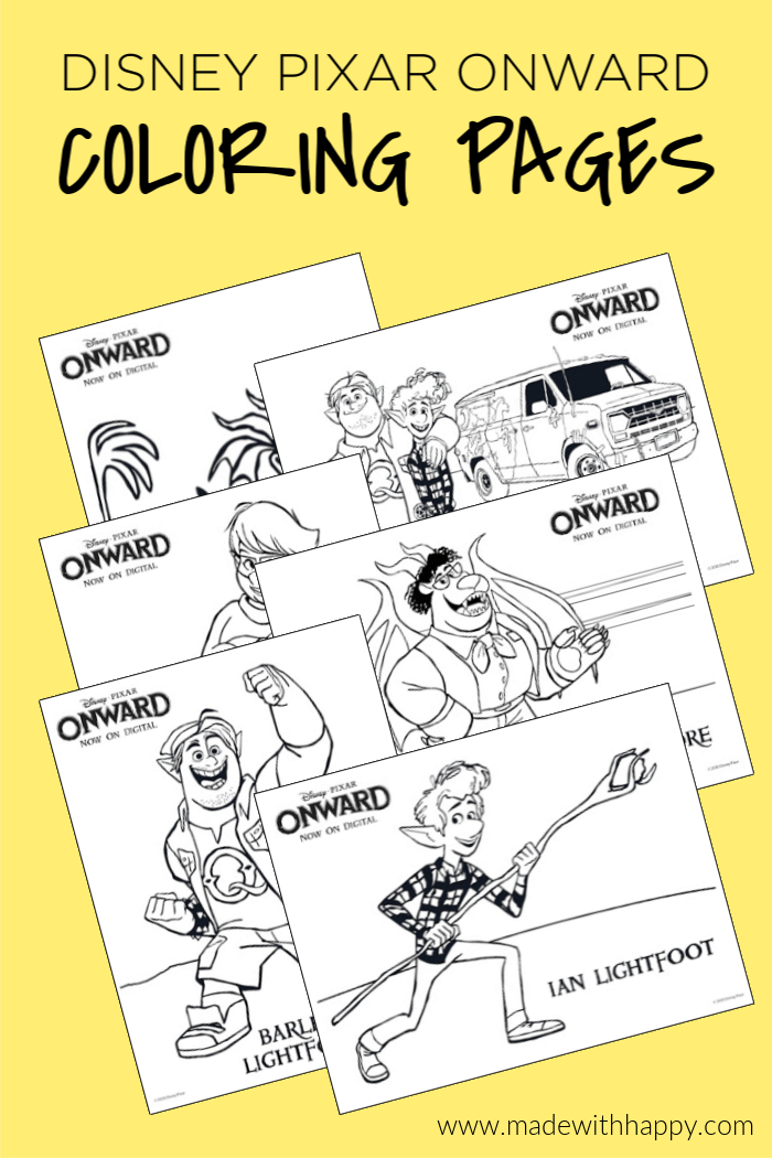 Disney Onward Coloring Pages