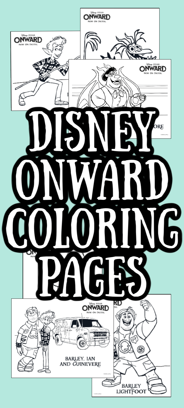 Download Onward Disney Coloring Pages for Kids - Made with HAPPY