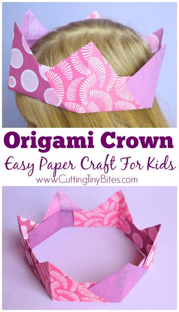Origami-Crown-Paper-Craft-KidsKids Crafts From Around the World-Week 5