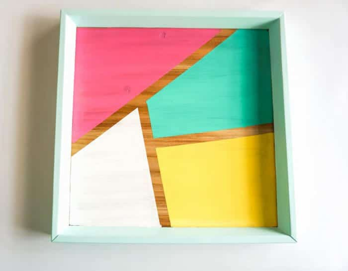 bright color block tray