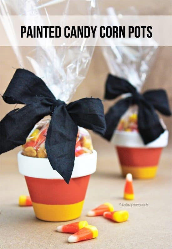 painted candy corn pots
