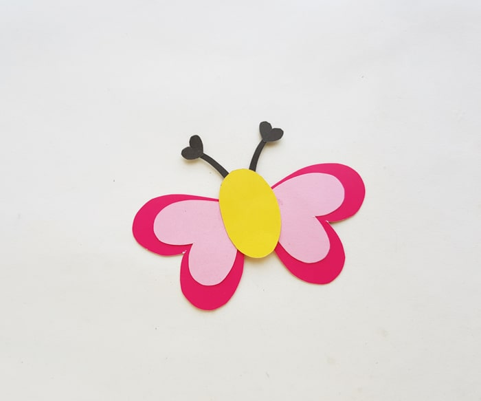glue wings to butterfly body