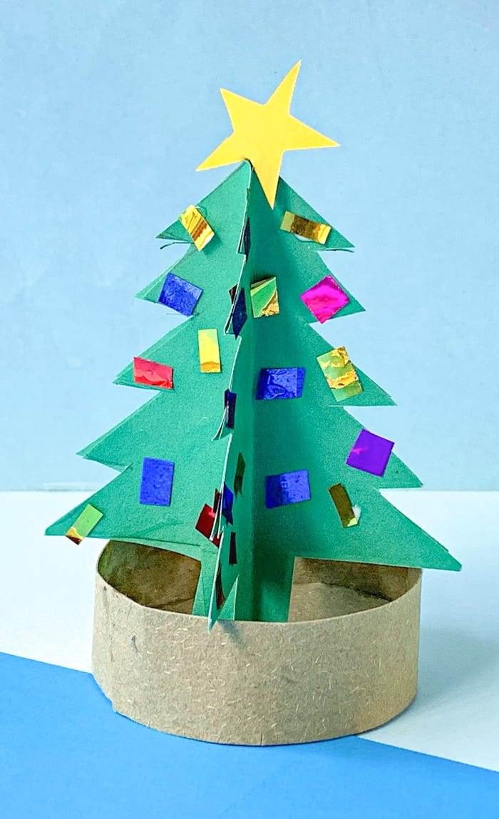3d Paper Chrsistmas Tree Easy Kids Christmas Craft