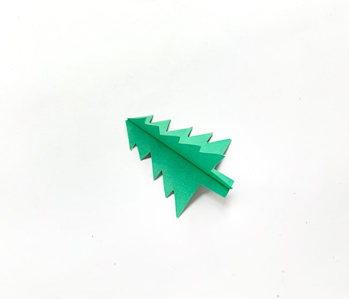 glued together two folded Christmas trees
