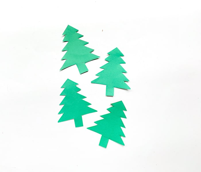Cut out paper Christmas Trees