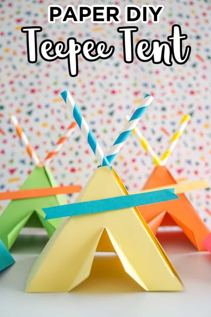 Paper DIY Teepee Tent