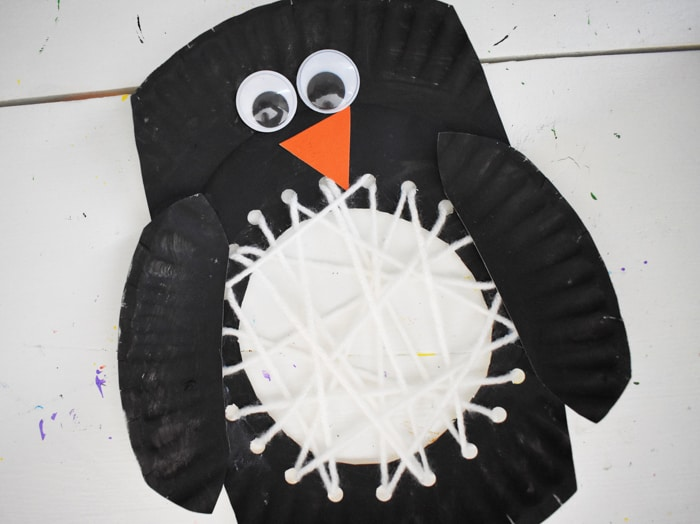 final paper plate penguin