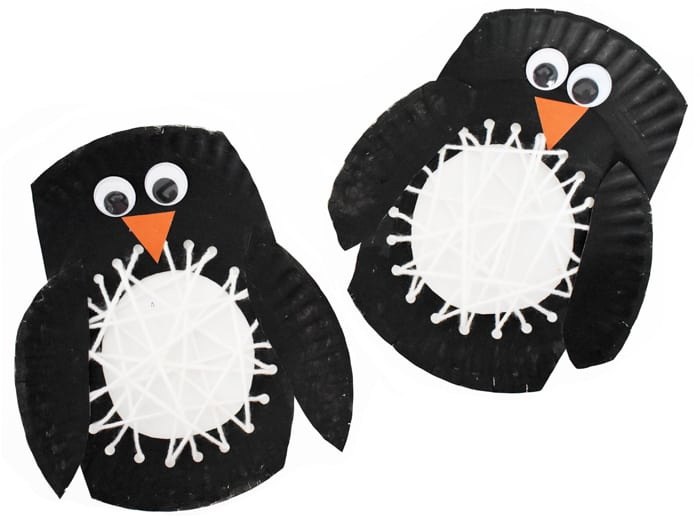 two penguin crafts complete