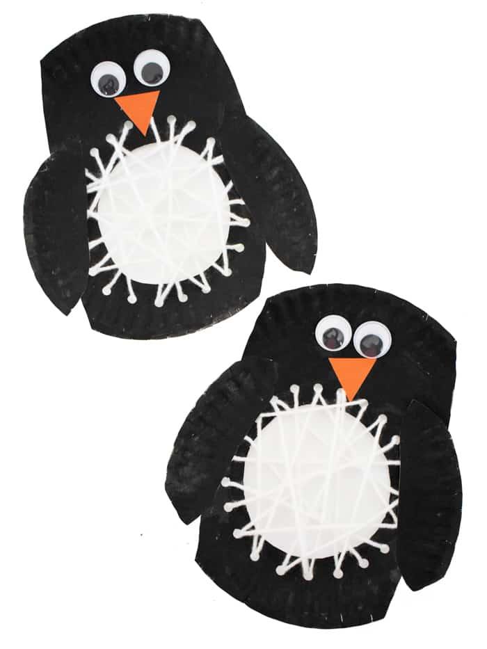 paper plate penguin craft for kids