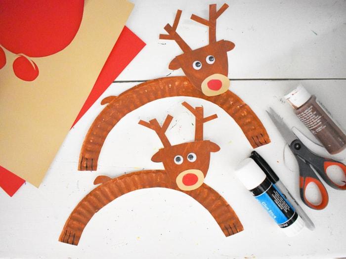 Putting Together Reindeer Crafts