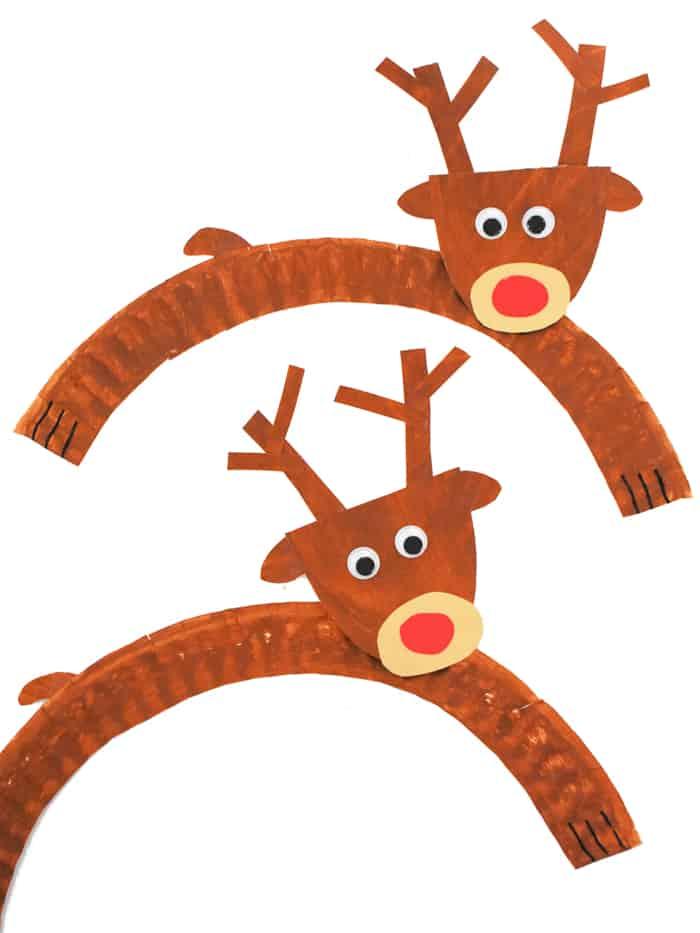 Two paper plate reindeer