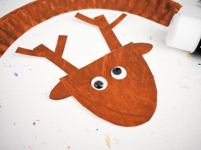 googly eyes on reindeer head