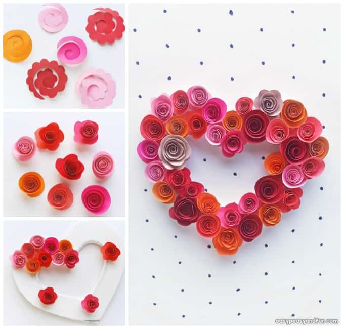 Paper Rose Heart Craft