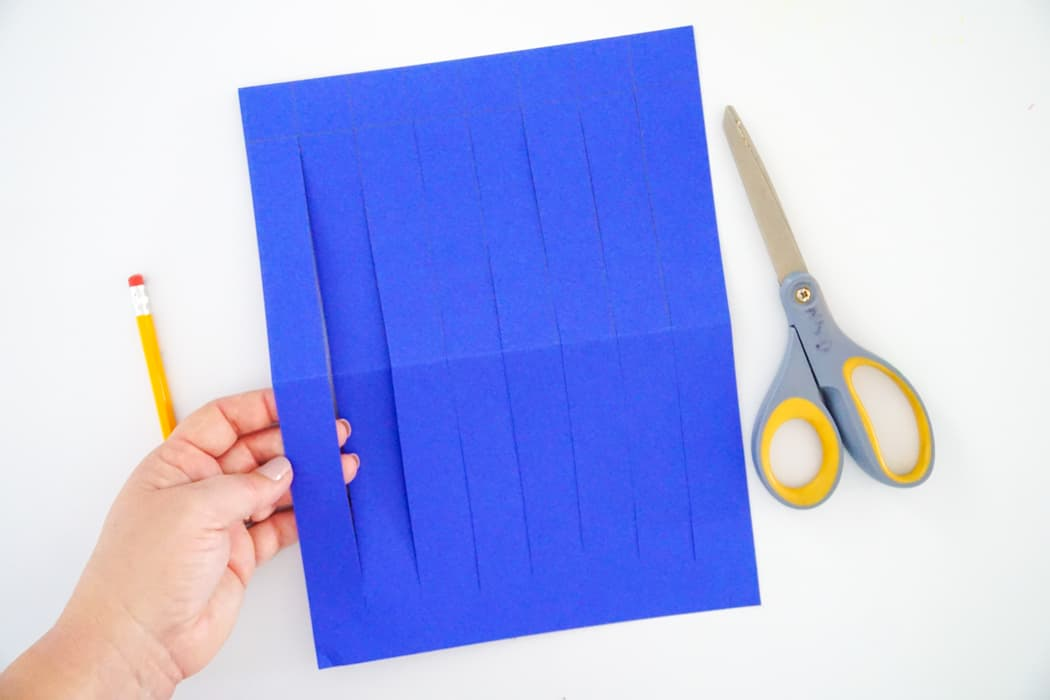 how to paper weave cutting paper base