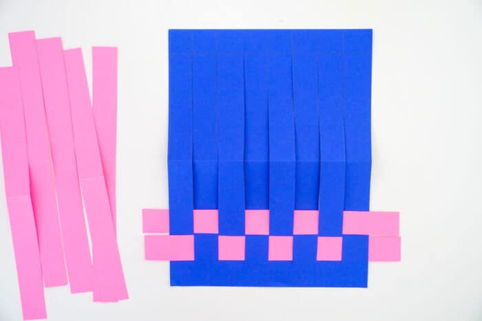 Paper Weaving with two paper strips