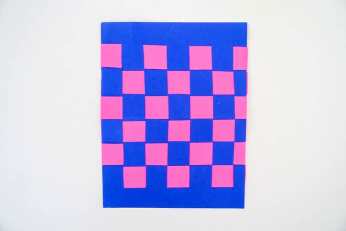 Checkered Board Paper Weaving