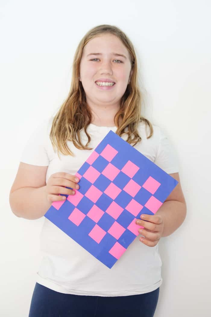 Easy Checkered Paper Crafts